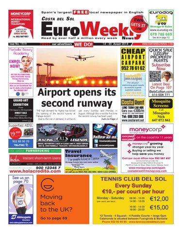 1bcf98e843b Euro Weekly News - Costa del Sol 14 - 20 August 2014 Issue 1519 by ...