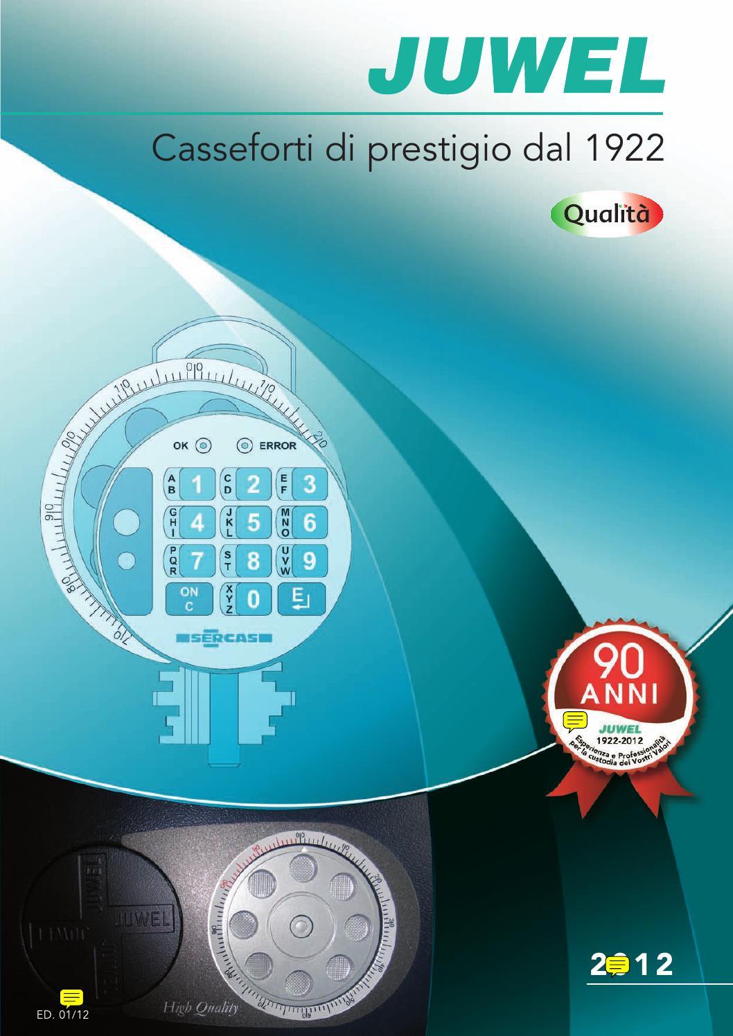 CASSAFORTE A MURO JUWEL KOMBISTAR ARTICOLO 4733 A COMBINAZIONE MECCANICA 3 DISCHI