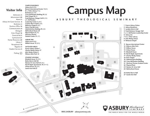 Campus map by Asbury Theological Seminary   issuu