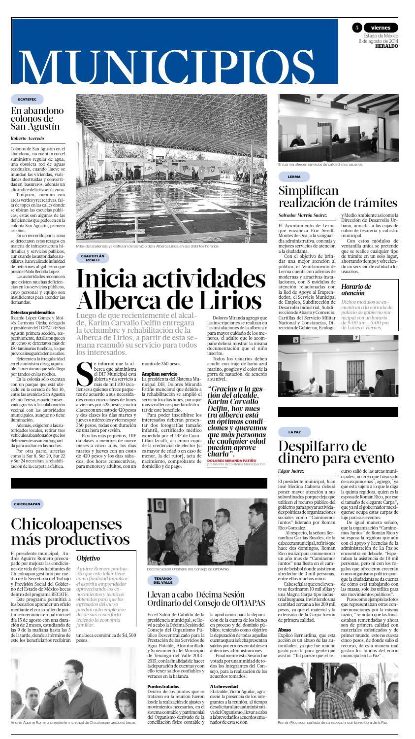 8 De Agosto 2014 By Heraldo Estado De México Issuu