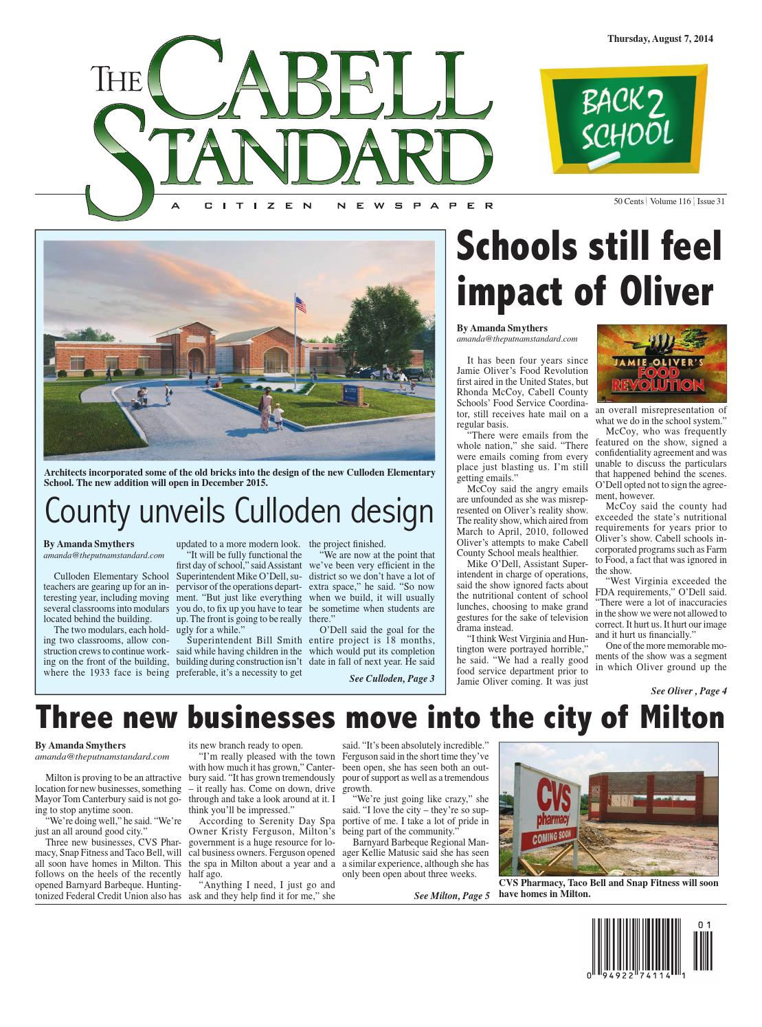 The Cabell Standard, August 7, 2014 by PC Newspapers - issuu