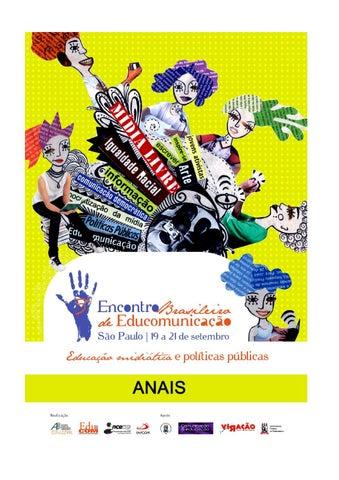 ... EDUCOMUNICAÇÃO Educação Midiática e Políticas Públicas São Paulo, 19,  20 e 21 de setembro de 2013. Coordenador Geral  Prof. Dr. Ismar de Oliveira  Soares ... 3cf6d0e722