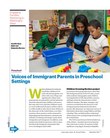 Engaging Families Partnering In Meaningful Ways