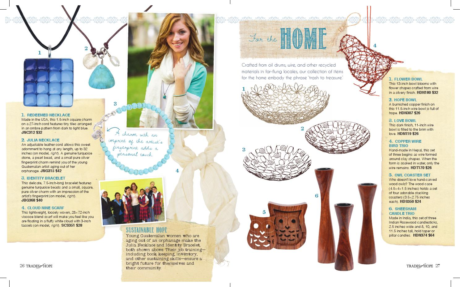 Trades of Hope Fall 2014 Catalog by Trades of Hope - issuu