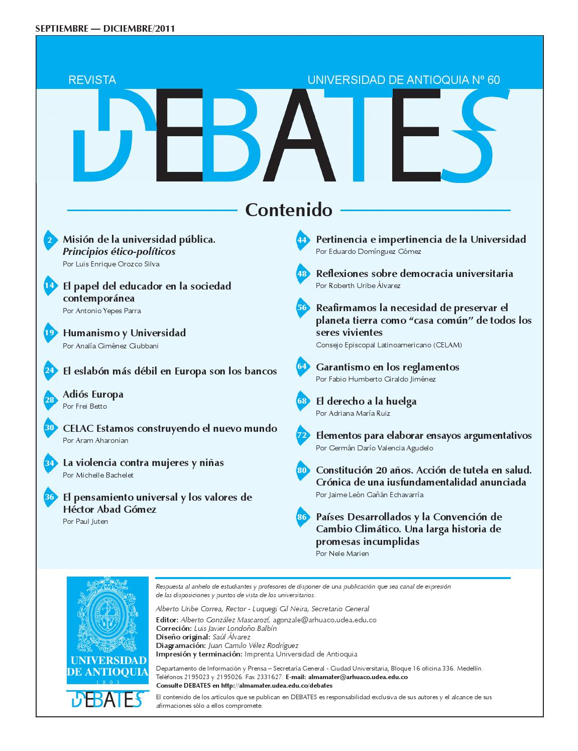 REVISTA N° 60 by Universidad de Antioquia - issuu