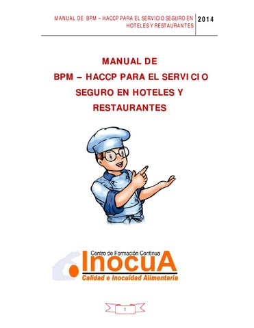 Manual bpm en restaurantes by inocua peru issuu for Manual de procedimientos de cocina en un restaurante