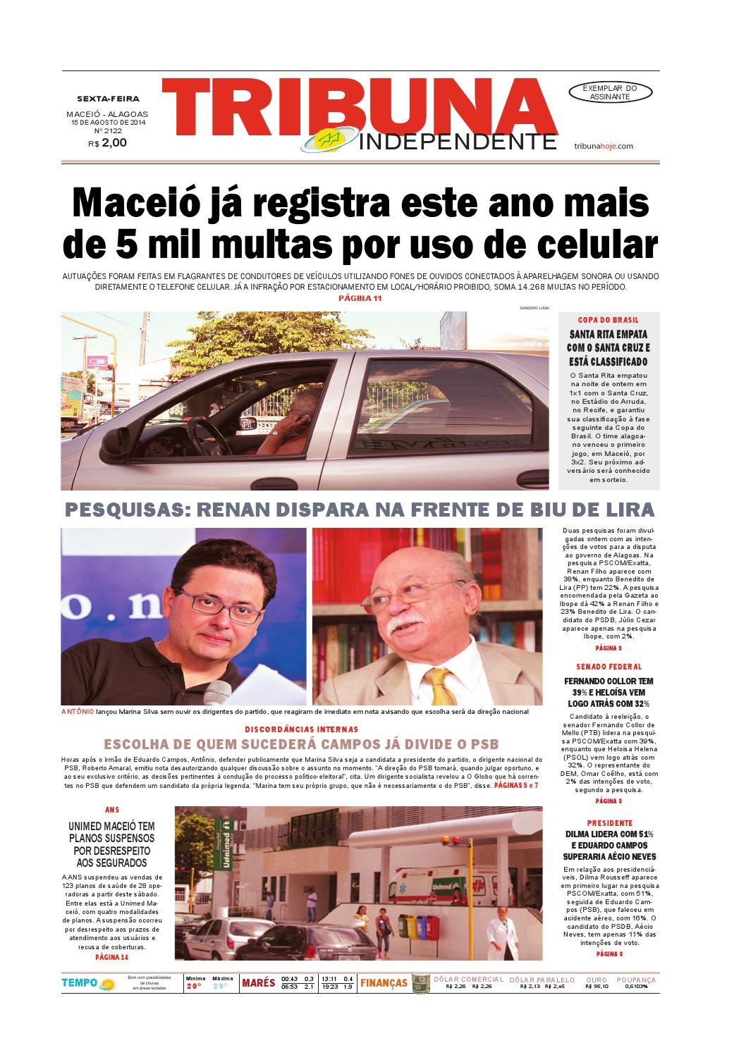 0a71fd3fcfc82 Edição número 2122 - 15 de agosto de 2014 by Tribuna Hoje - issuu