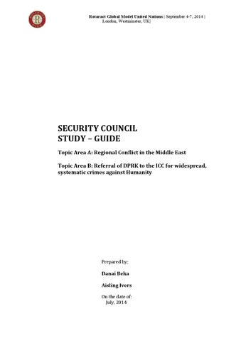 Security council study guide by Club Rotaract TEAM - issuu