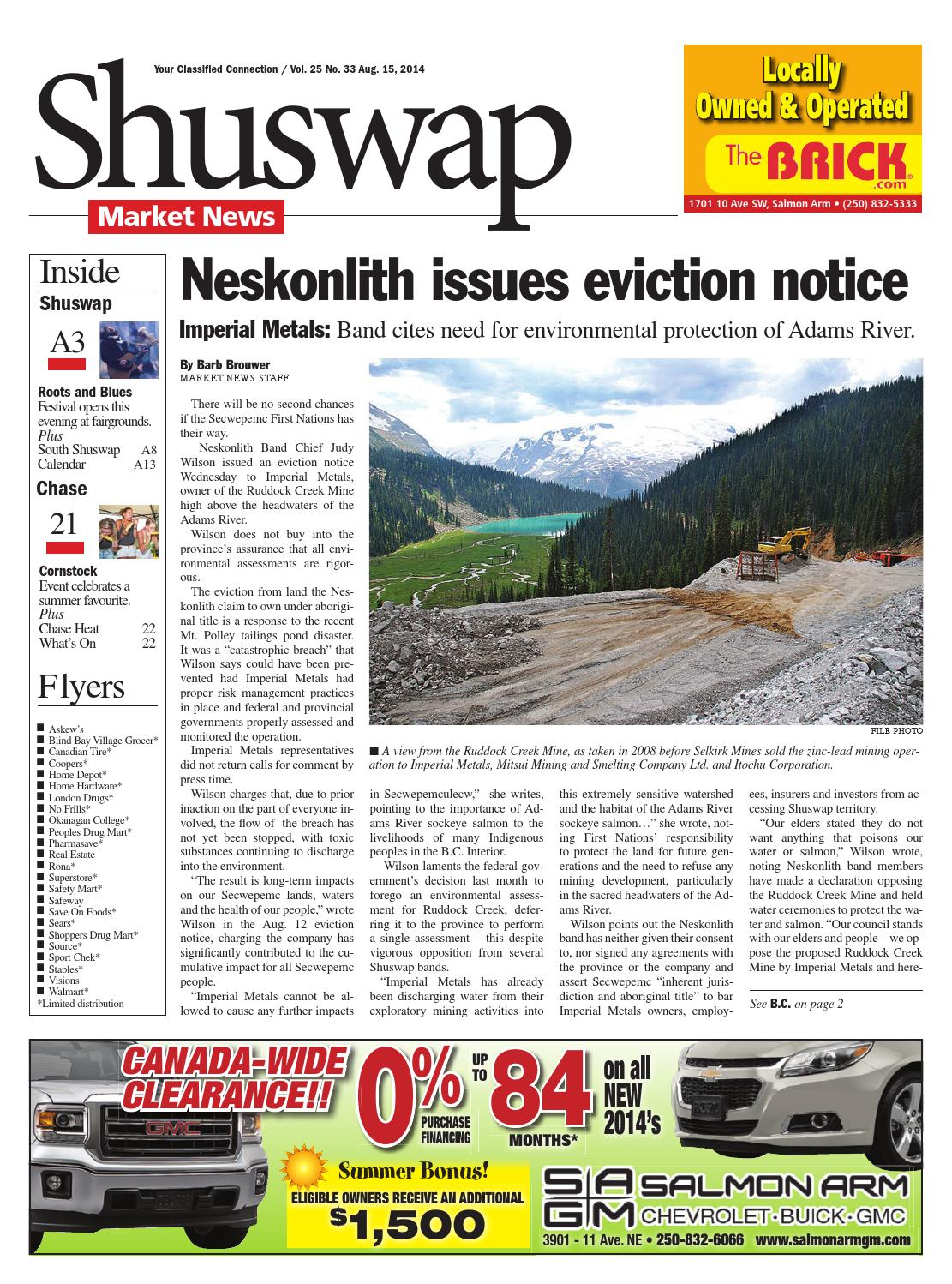 Salmon Arm Observer, August 15, 2014 by Black Press Media