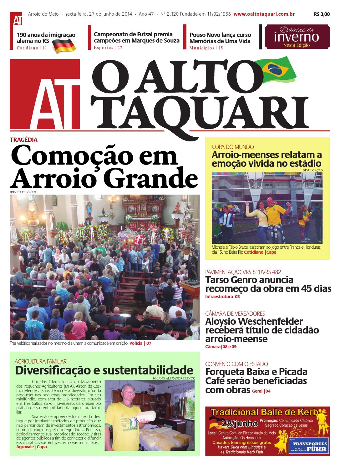 13a15fba42 Jornal O Alto Taquari - 27 de junho de 2014 by Jornal O Alto Taquari - issuu