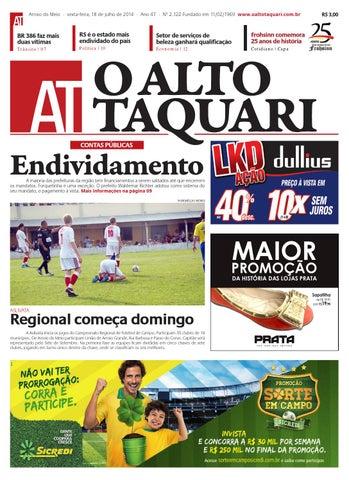 Jornal O Alto Taquari - 18 de julho de 2014 by Jornal O Alto Taquari ... 261ed7221e9f6