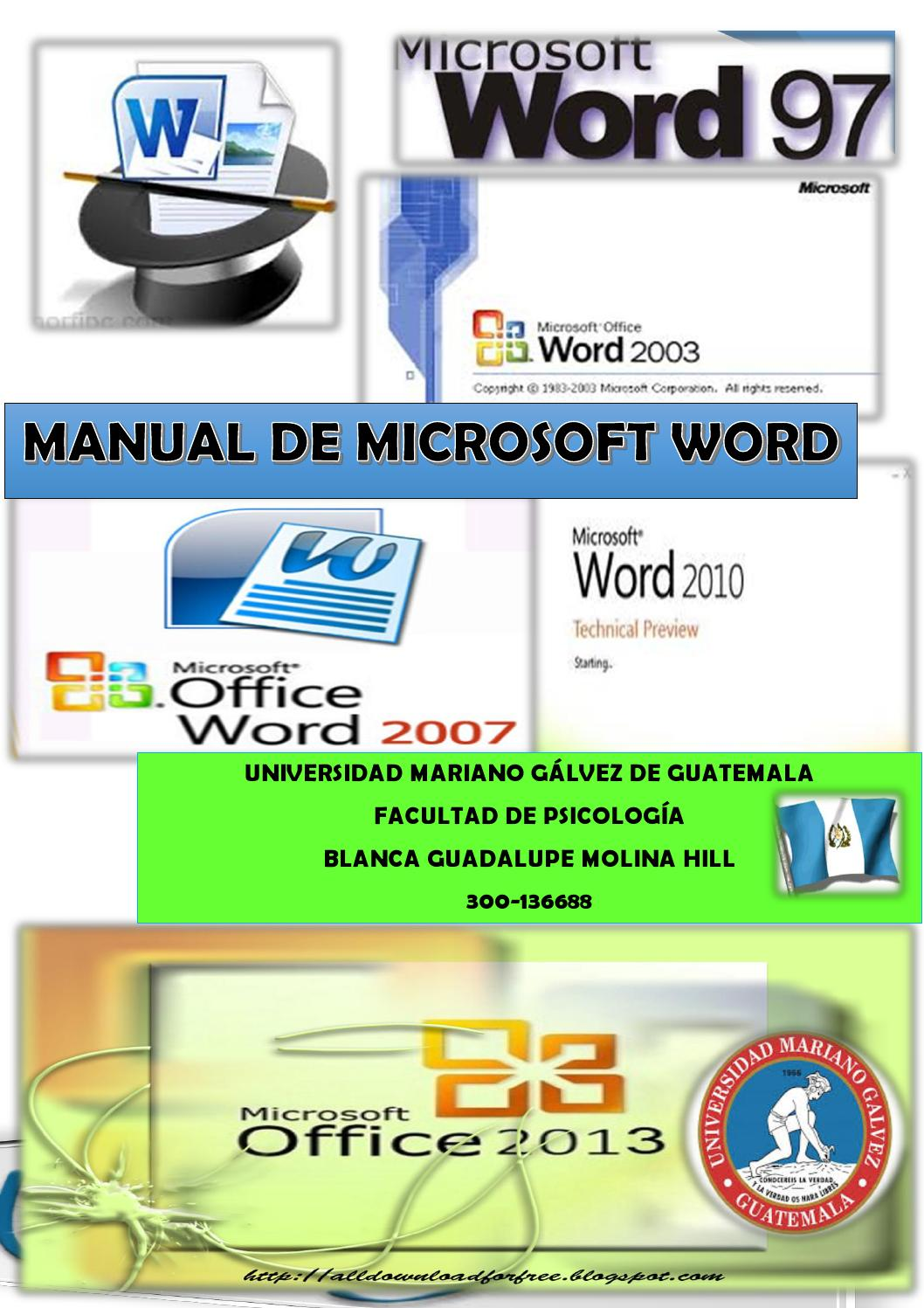 Manual de word 2013 umg by Guadalupe Molina - issuu