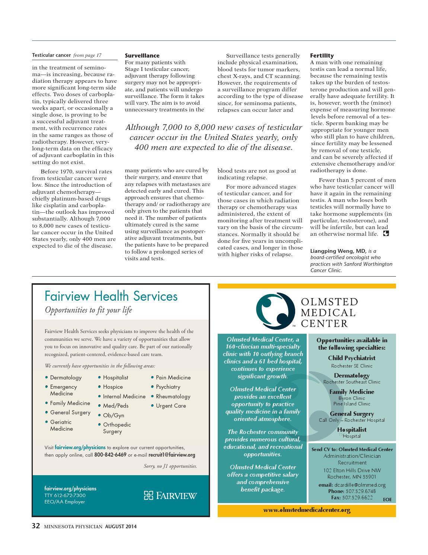 Minnesota Physician August 2014 By Minnesota Physician Publishing