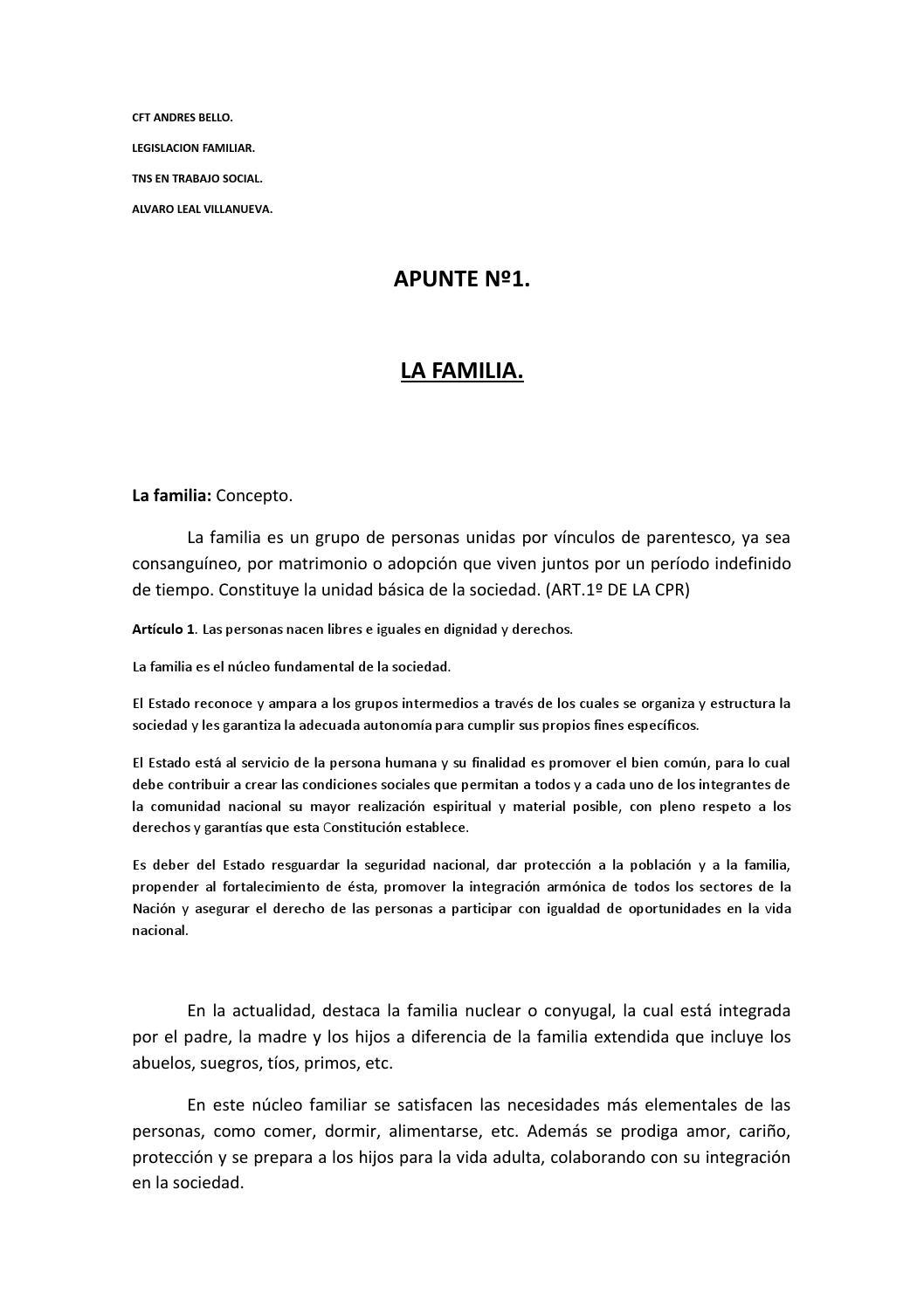 Apunte Nº1 Legislacion Familiar By Domus Issuu