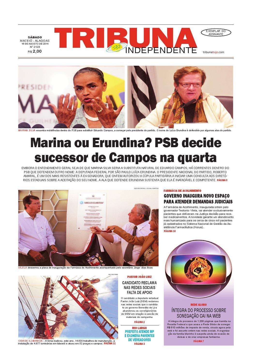 e8701ff78 Edição número 2123 - 16 de agosto de 2014 by Tribuna Hoje - issuu
