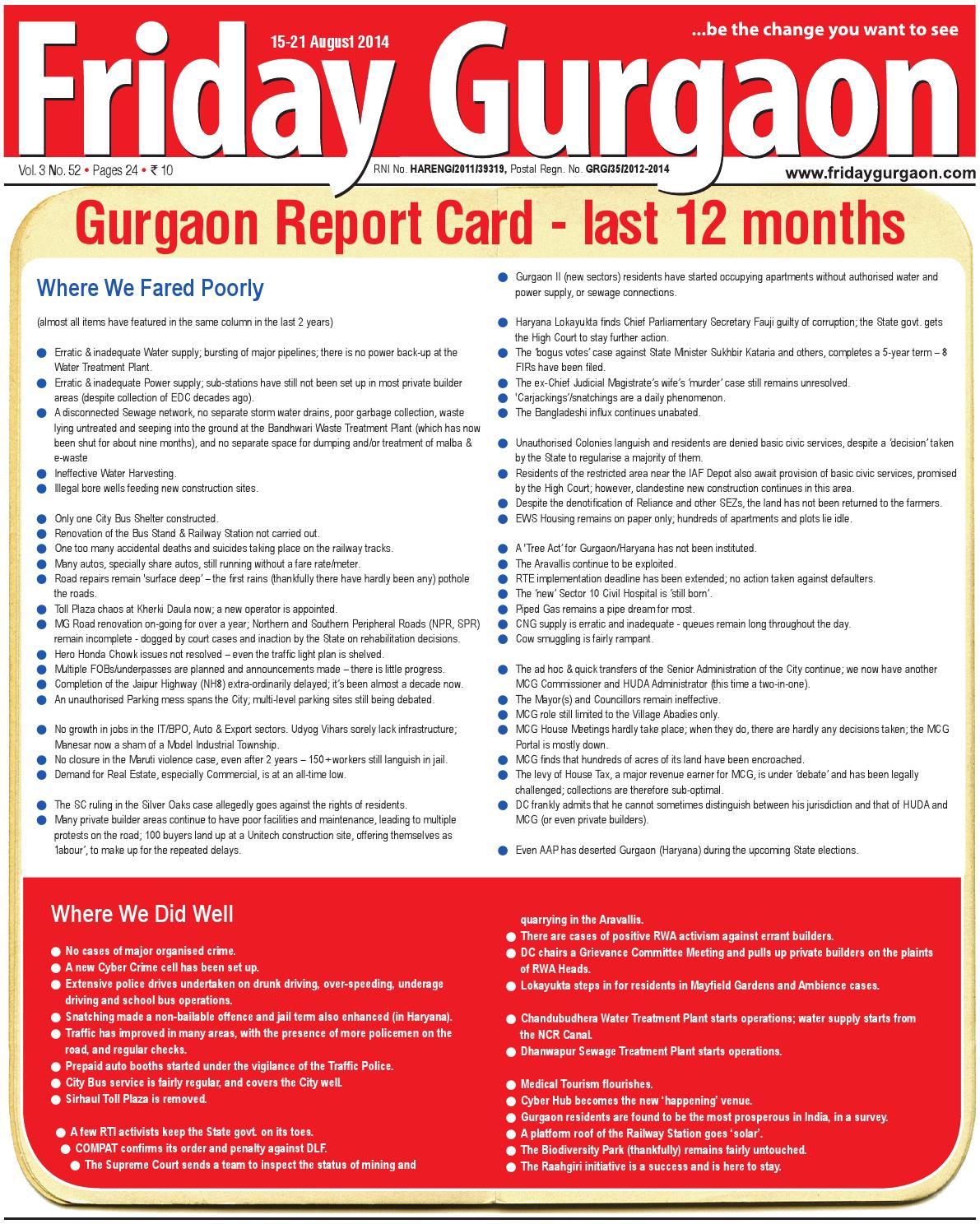 Friday gurgaon 15 21 aug, 2014 by Friday Gurgaon - issuu