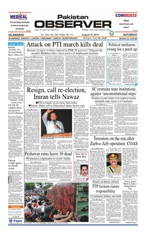 Ep16aug2014 by Pakistan Observer - issuu