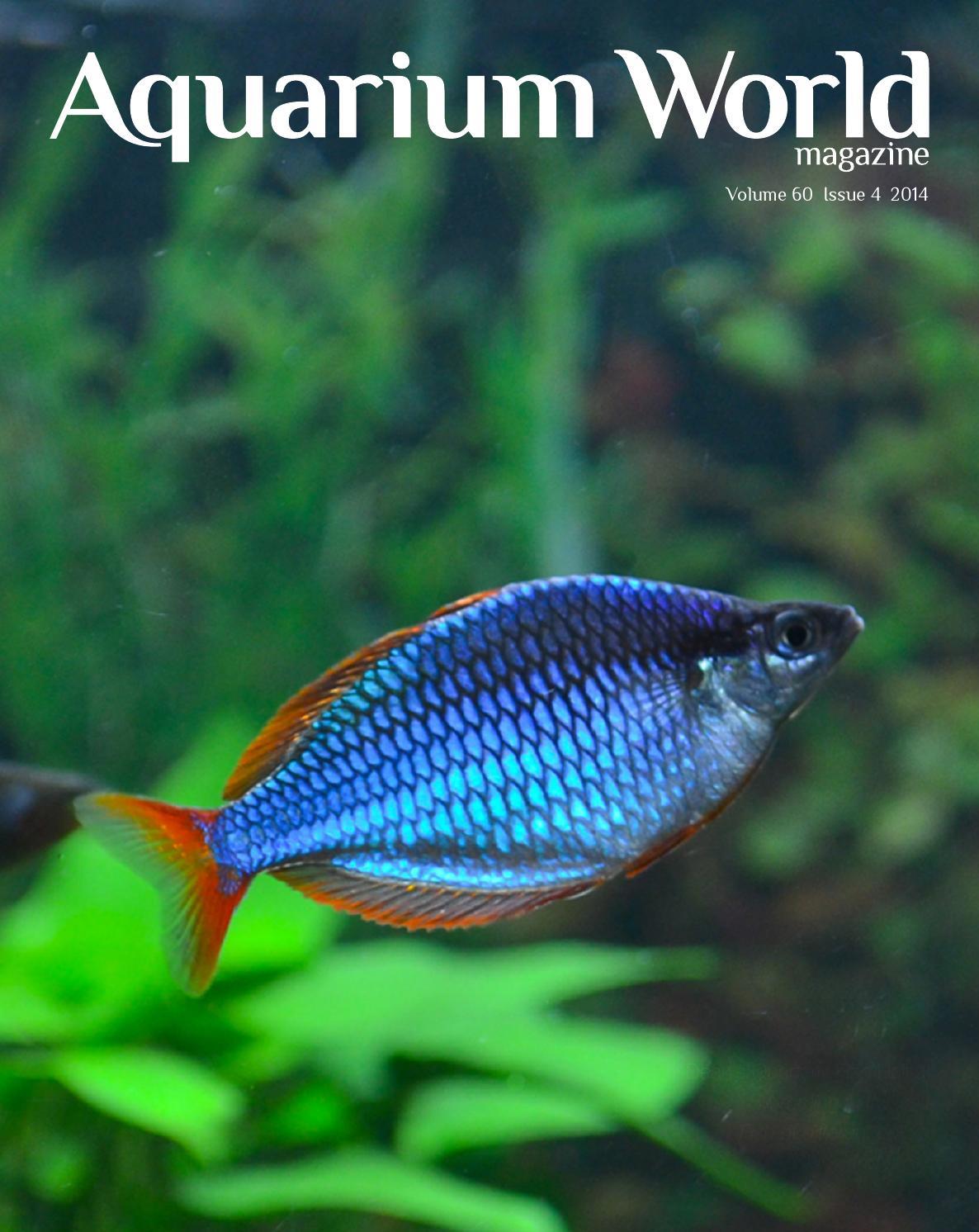 89542a9d6e43 Aquarium World Magazine August 2014 by FNZAS - issuu