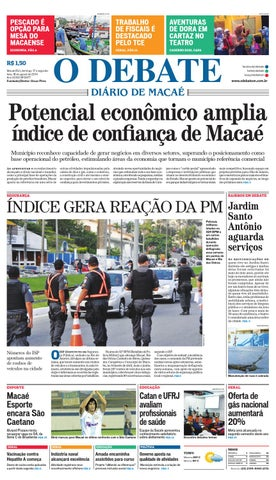 Noticiário 17 08 14 by O DEBATE Diario de Macae - issuu 7730f34d54