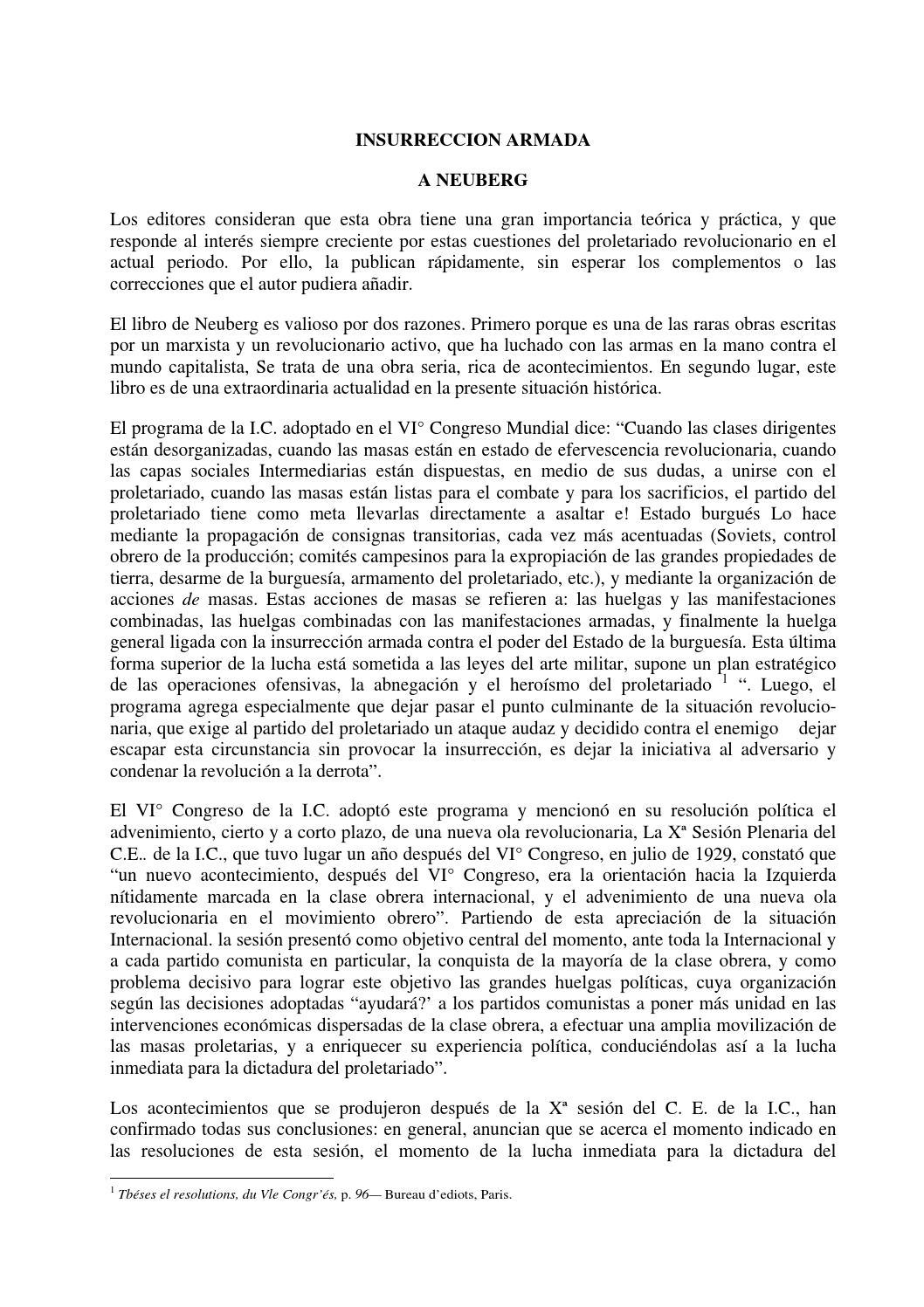 la insurreccion armada pdf by Lagarta Juana - issuu