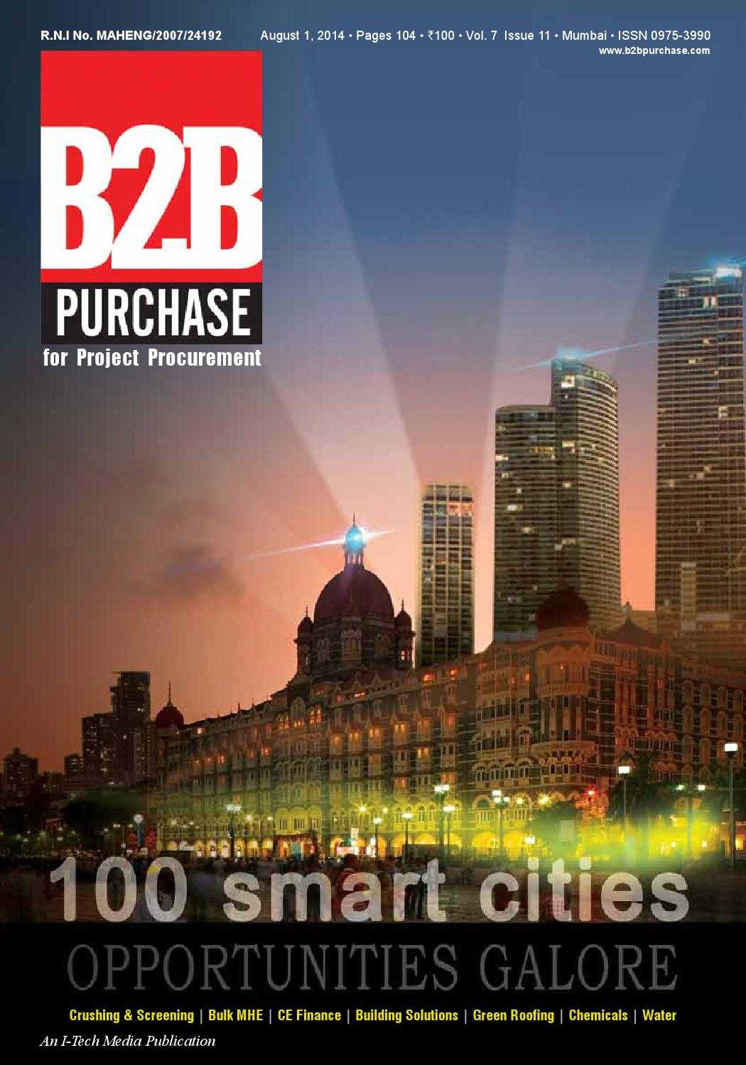 B2B Purchase August 2014 by I-Tech Media Pvt Ltd - issuu