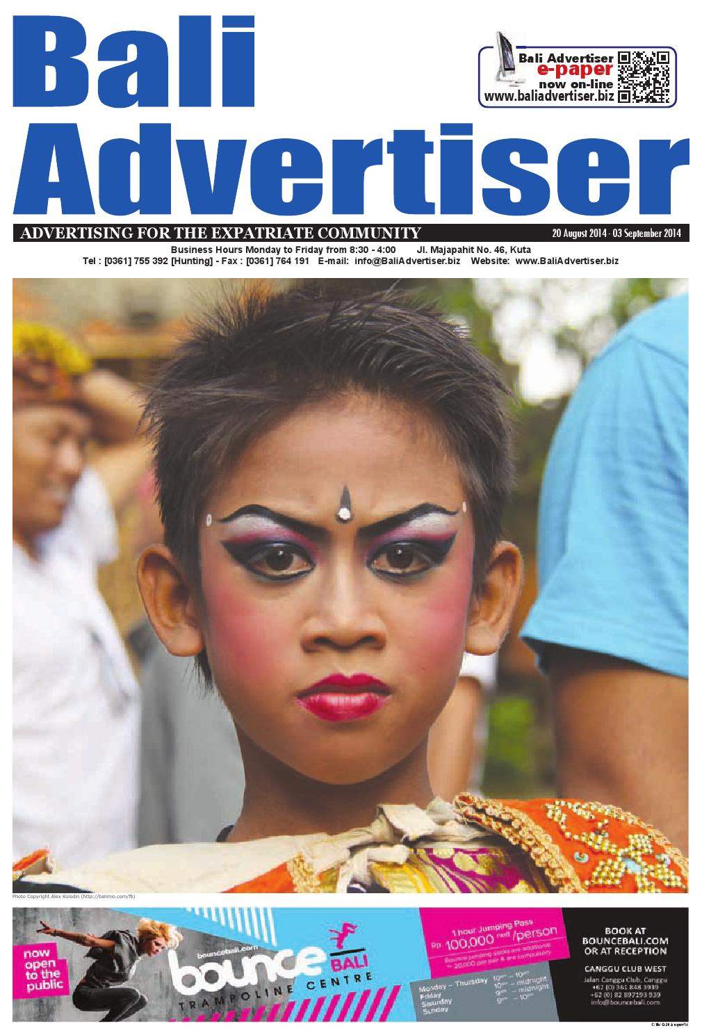 Ba 20 August 2014 By Bali Advertiser Issuu Kebaya Lestari Putih 1185r