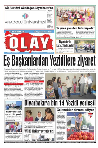 17 08 2014 Gazete Sayfalari By Diyarbakir Olaygazetesi Issuu