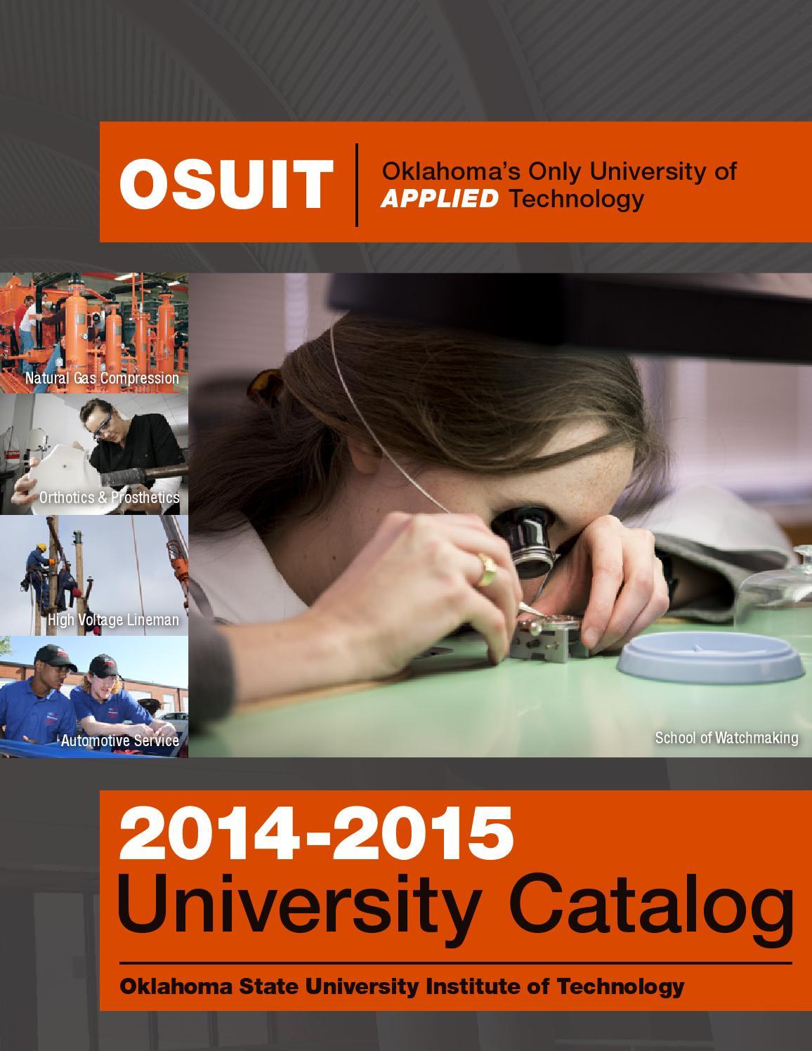 OSUIT 2014-2015 University Catalog
