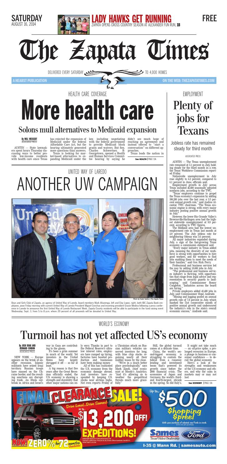 The Zapata Times 8/16/2014 by The Zapata Times - issuu