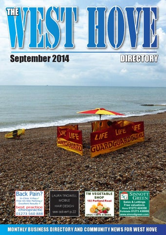 West Hove Directory September 2014 by Sussex Magazines - issuu