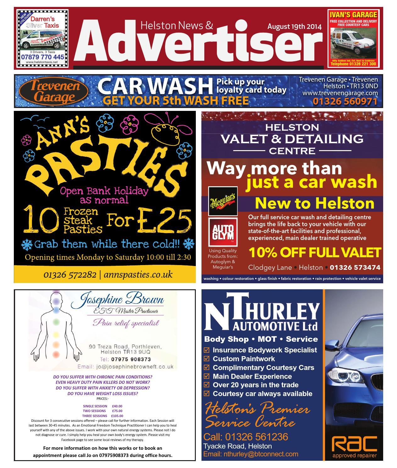 Helston News Advertiser August 19th 2014 By Helston Advertiser
