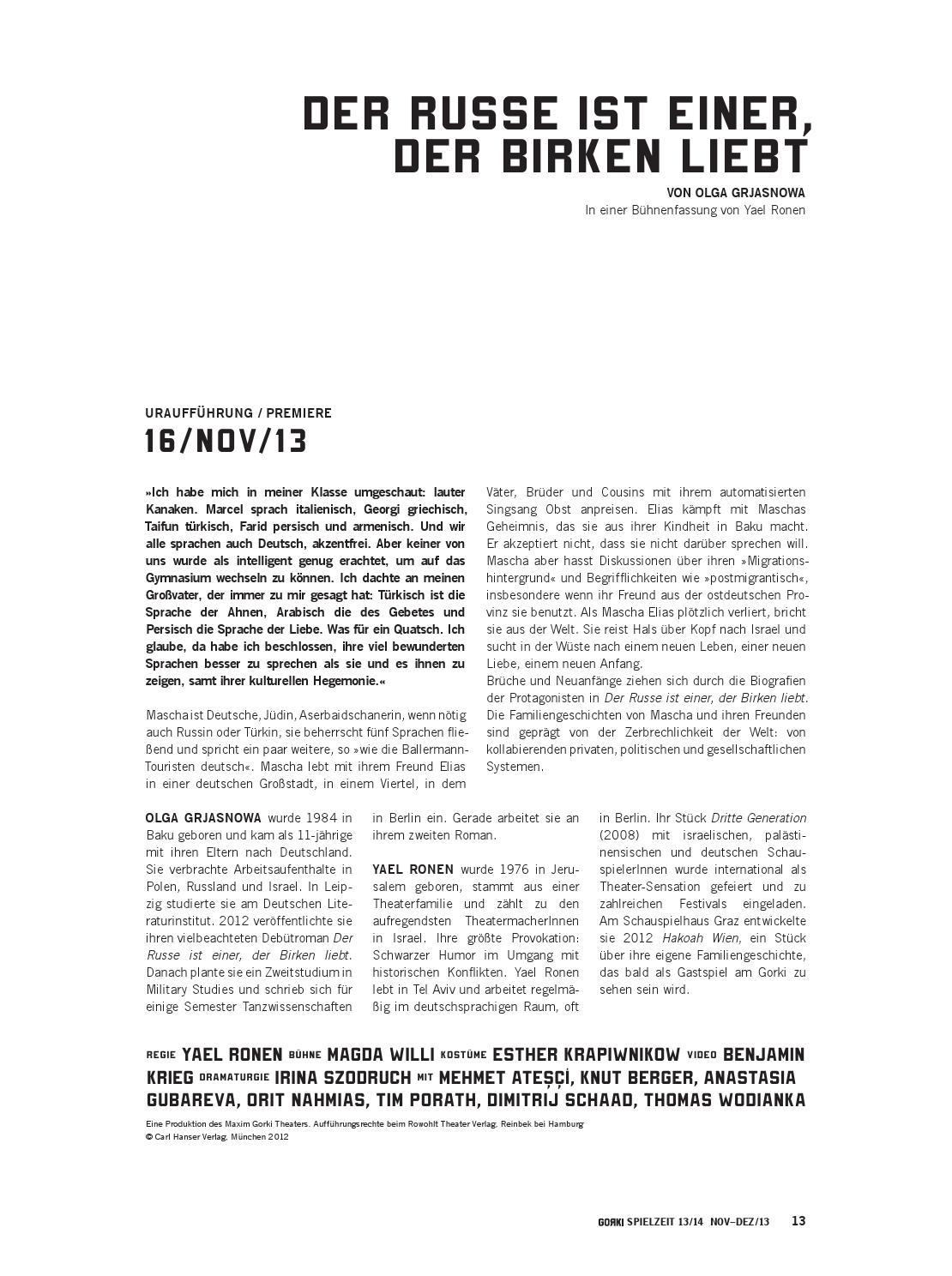 Liebt deutschen türkin Premiere im