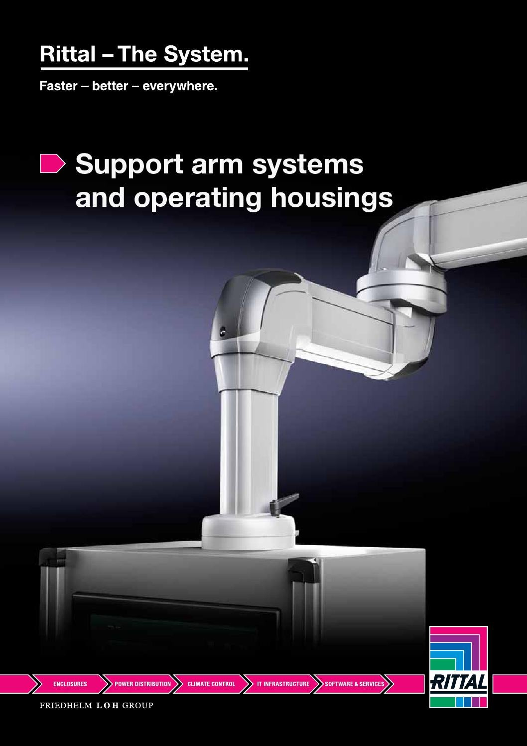 Rittal CP 40 support arm and arm system components used