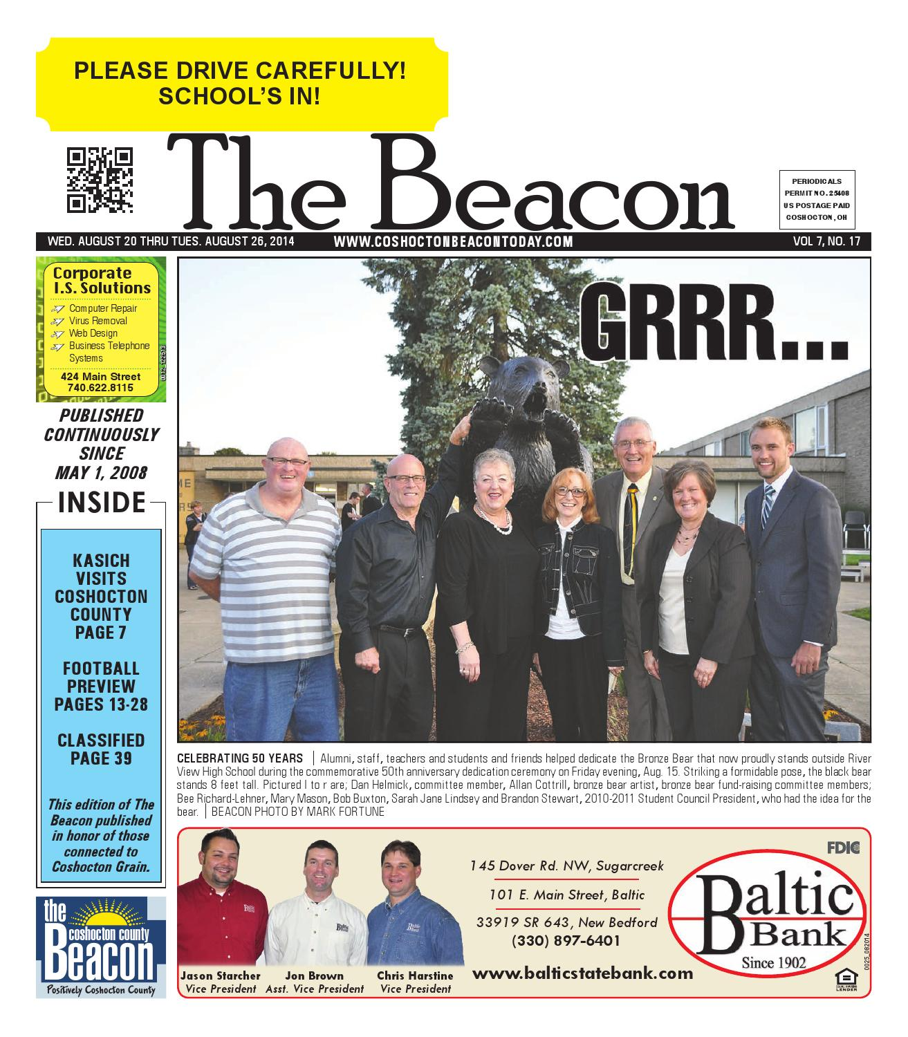 August 20 2014 Coshocton County Beacon By The Expedition E 6401 M Steel Black White Issuu