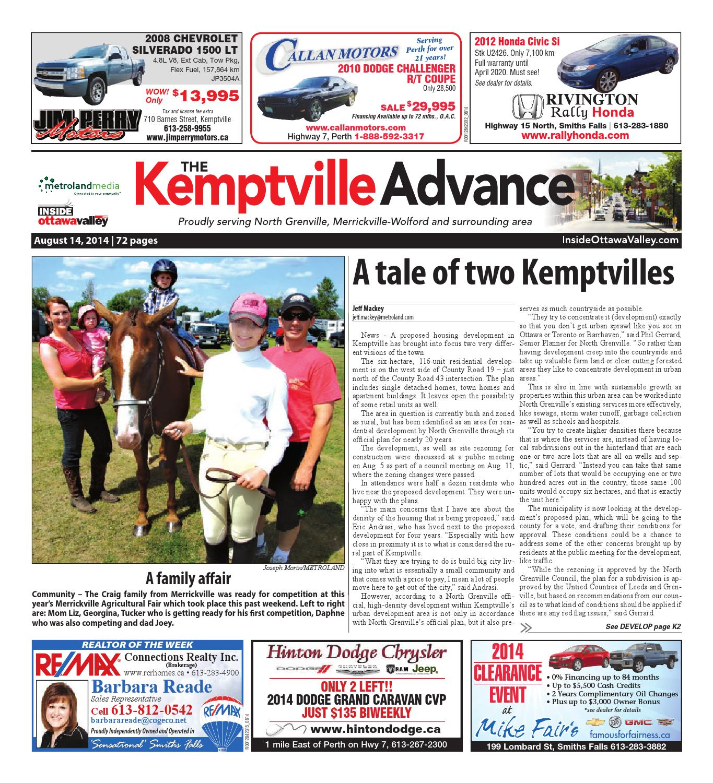 Kemptville081414 by metroland east kemptville advance issuu fandeluxe Images