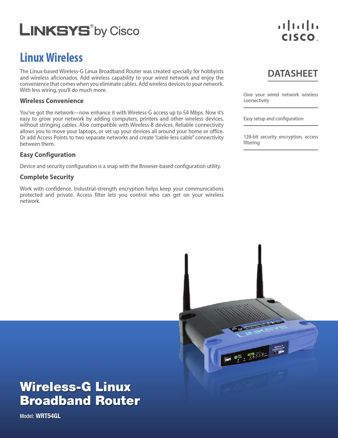 Router linksys wrt54gl v11 (datos) by Ismael Santano - issuu