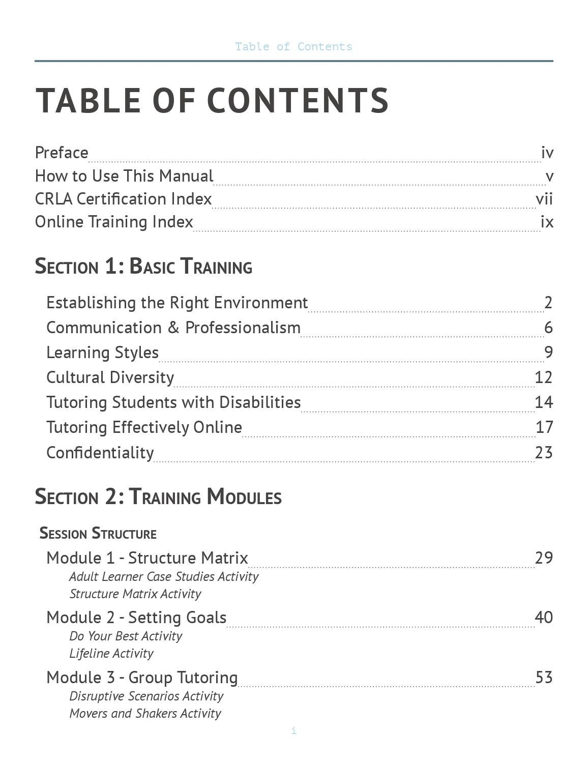 Peer Tutor Training Manual By Derek Issuu