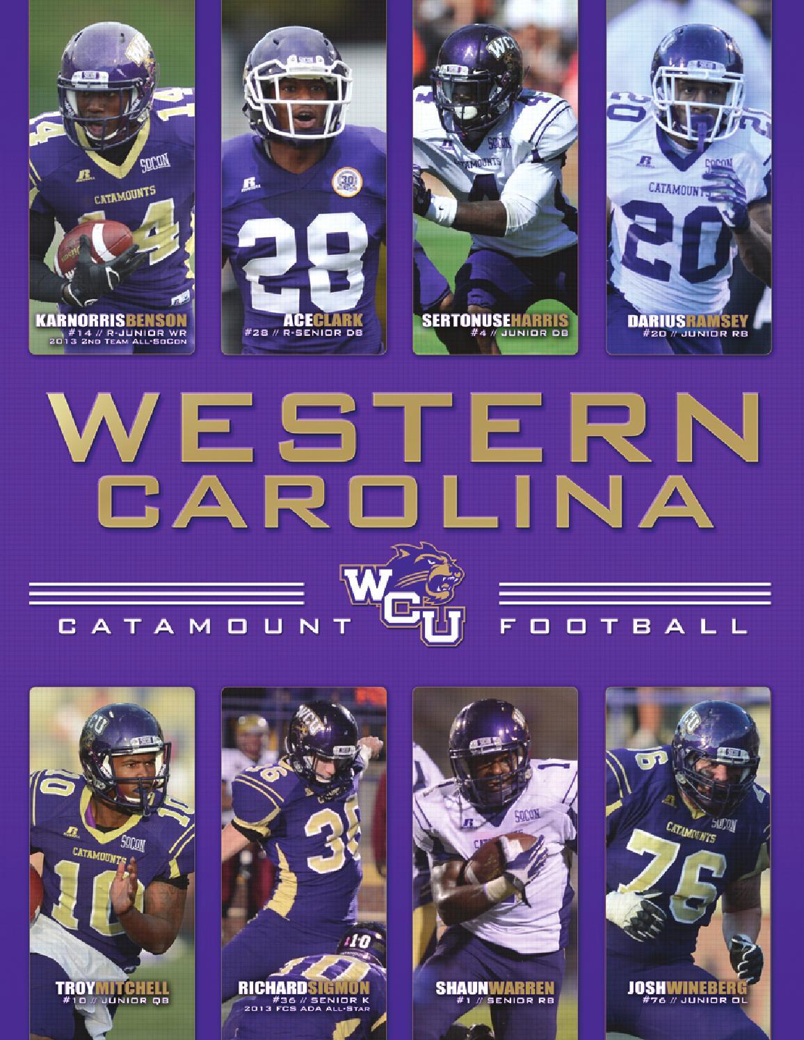 f0232fe79 2014 Western Carolina Football Yearbook by Western Carolina University  Athletics - issuu