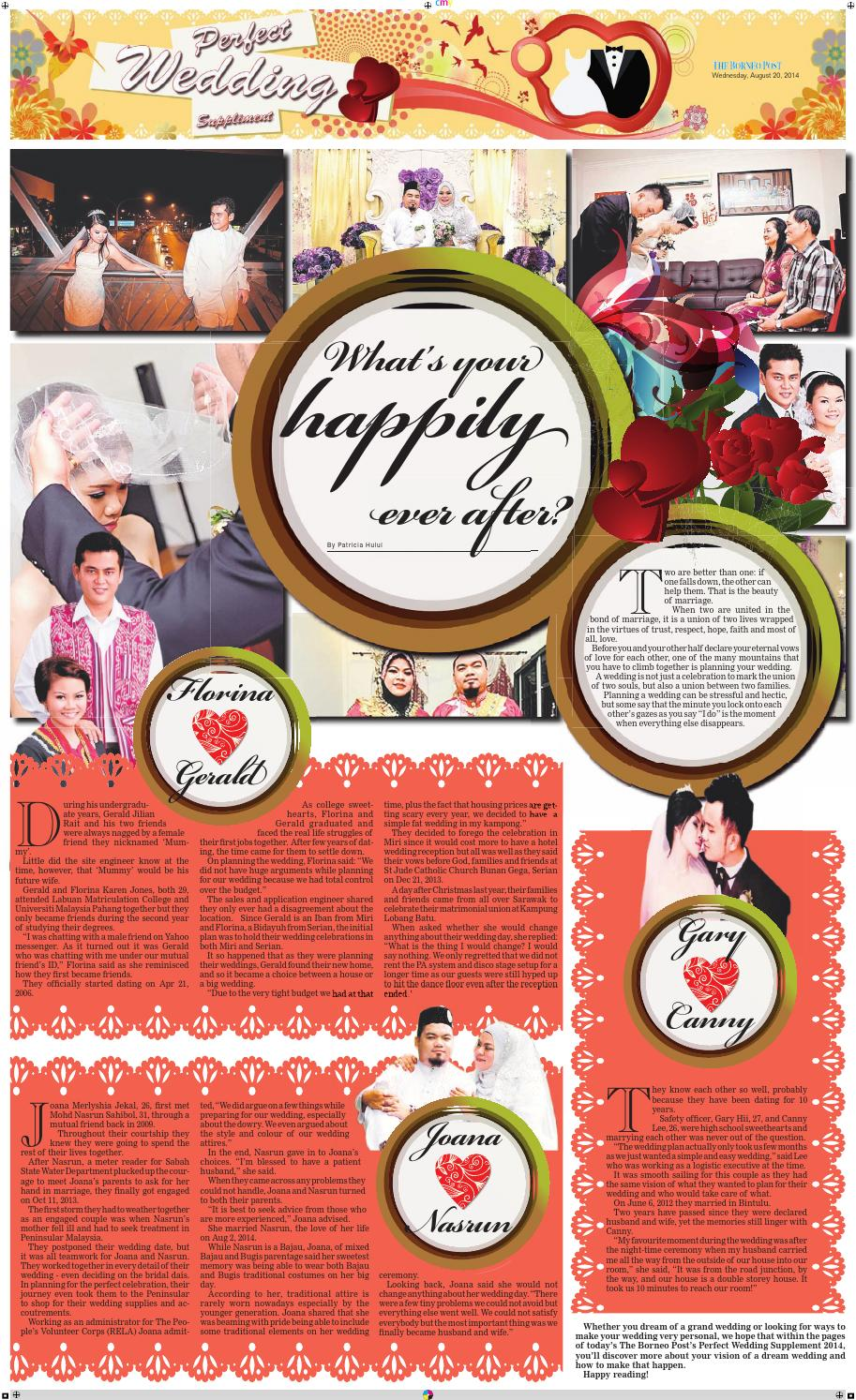 Perfect Wedding Supplement 2014 By Borneo Post Issuu