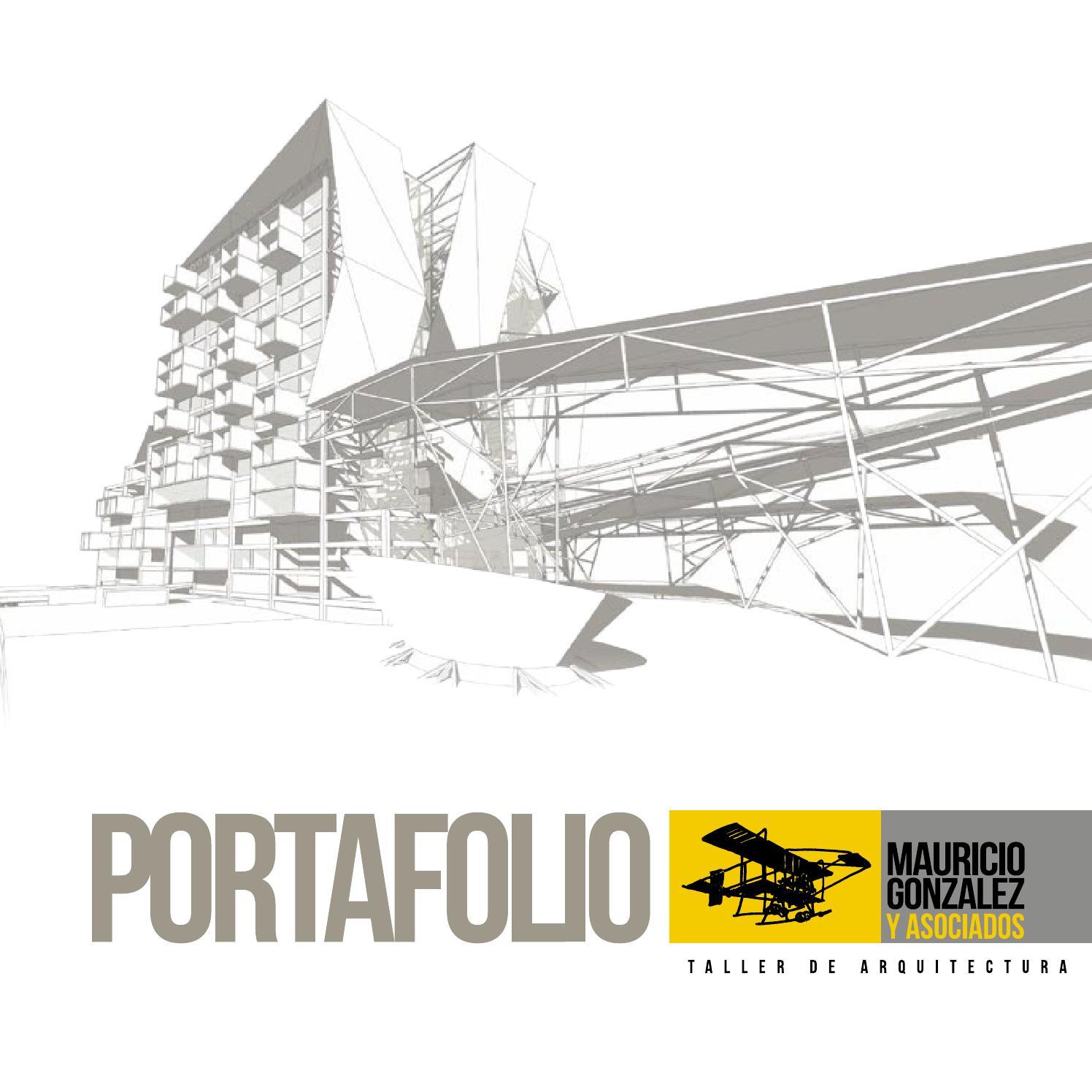 Portafolio mauricio gonzalez arquitectura by gabriel for Portafolio arquitectura