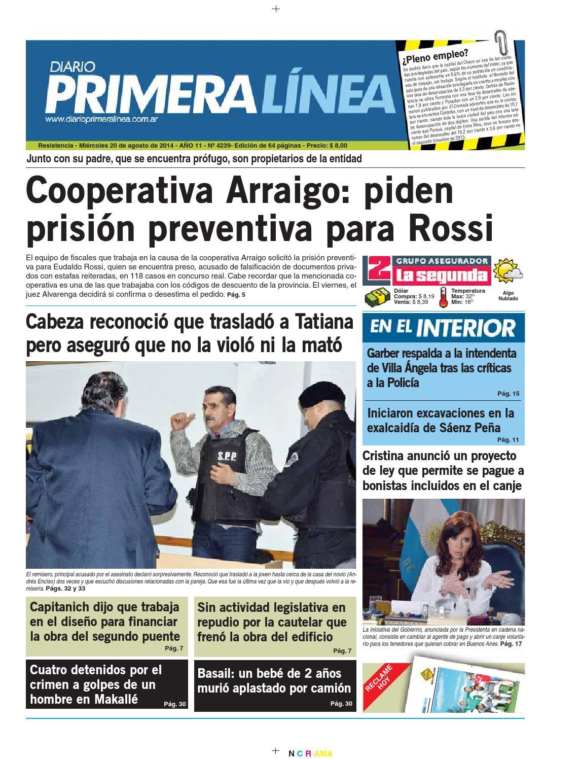Primera linea 4239 20 08 14 by Diario Primera Linea - issuu