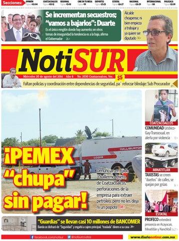 NotiSUR 20 de agosto 2014 by Diario NotiSUR Coatzacoalcos 2014 - issuu 5acc17691981