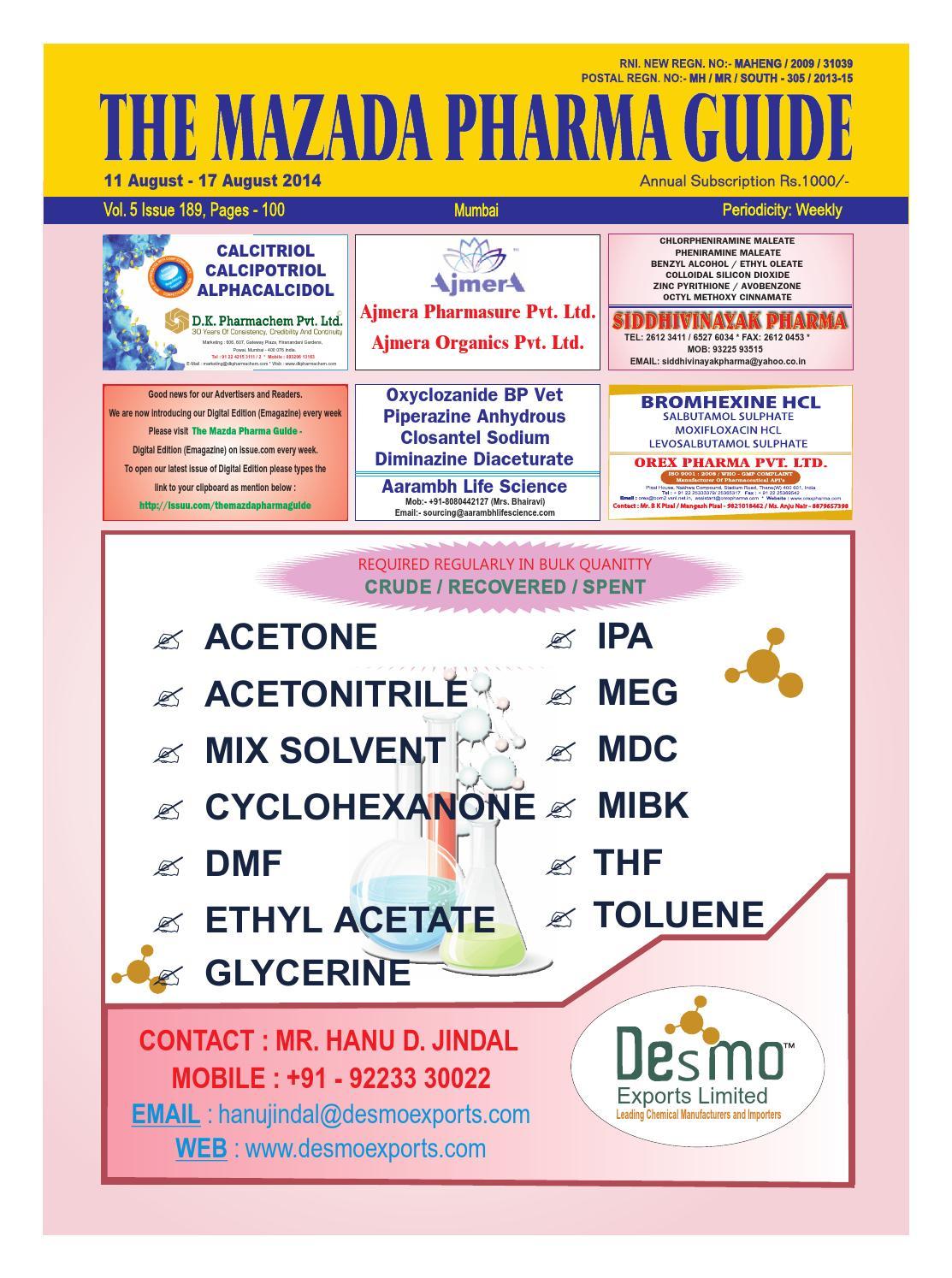 Levofloxacin hemihydrate usp 35 monograph.doc - The Mazada Pharma Guide 11th Aug 17th Aug 2014 By The Mazada Pharma Guide Issuu