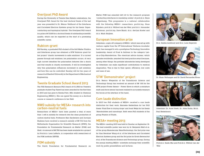 MESA+ Annual report 2013 by University of Twente - issuu