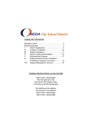 Oneida high school handbook 2014 2015 by allison blackwell issuu page 1 fandeluxe Gallery