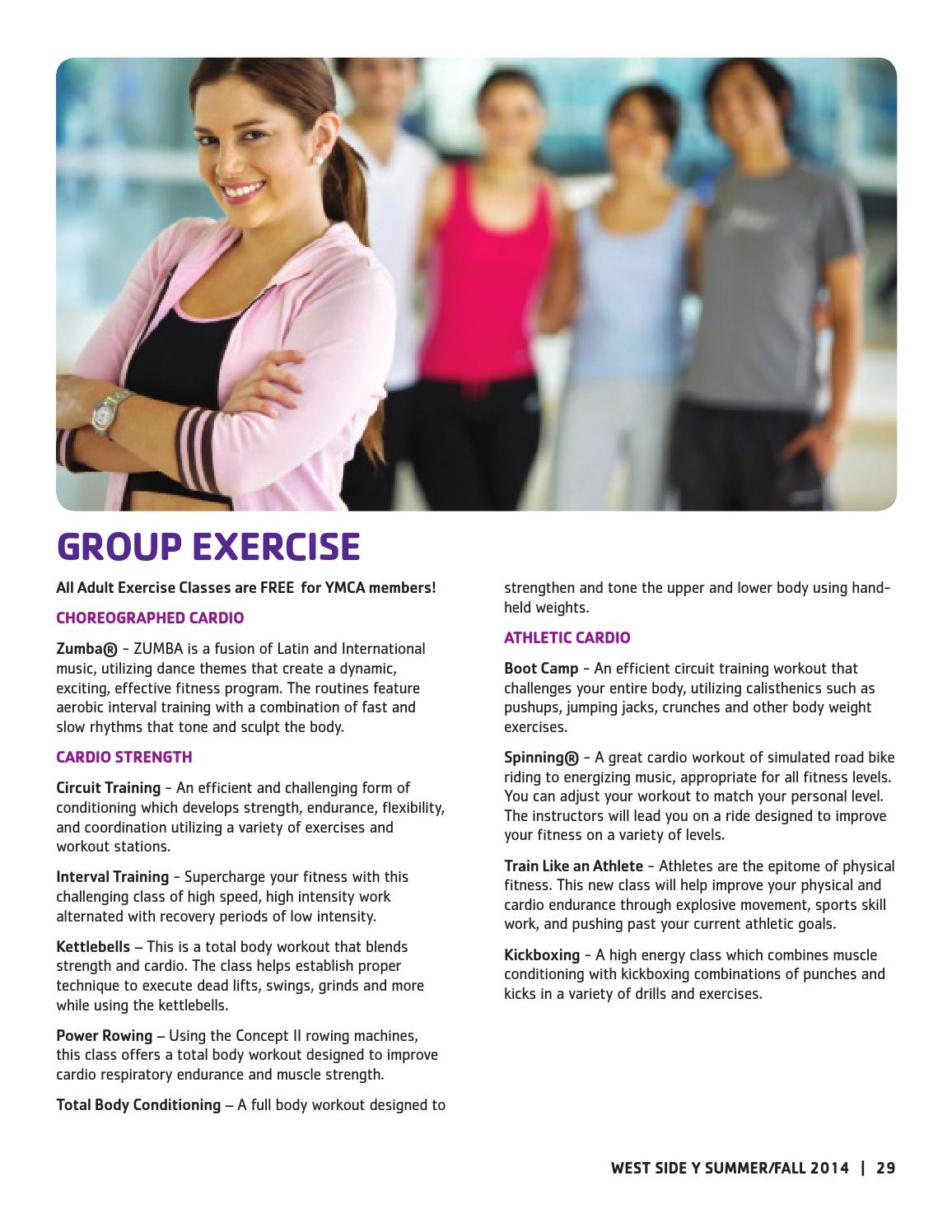 Fall Guide West Side By New York Citys Ymca Issuu Cardio Circuit Workout Another Great Without Needing