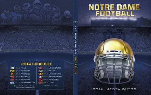 06fdd9ffa49 2014 Notre Dame football media guide by Chris Masters - issuu
