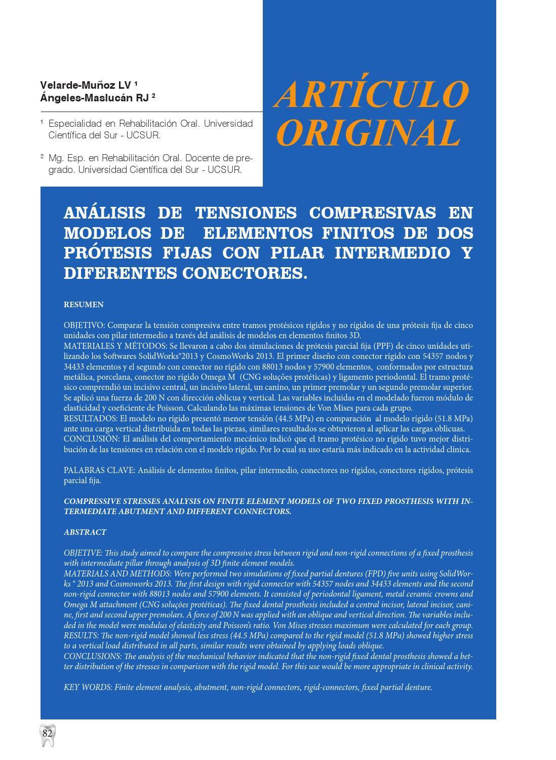 Revista Científica Odontológica. VOL. 2, No. 1. by Universidad ...