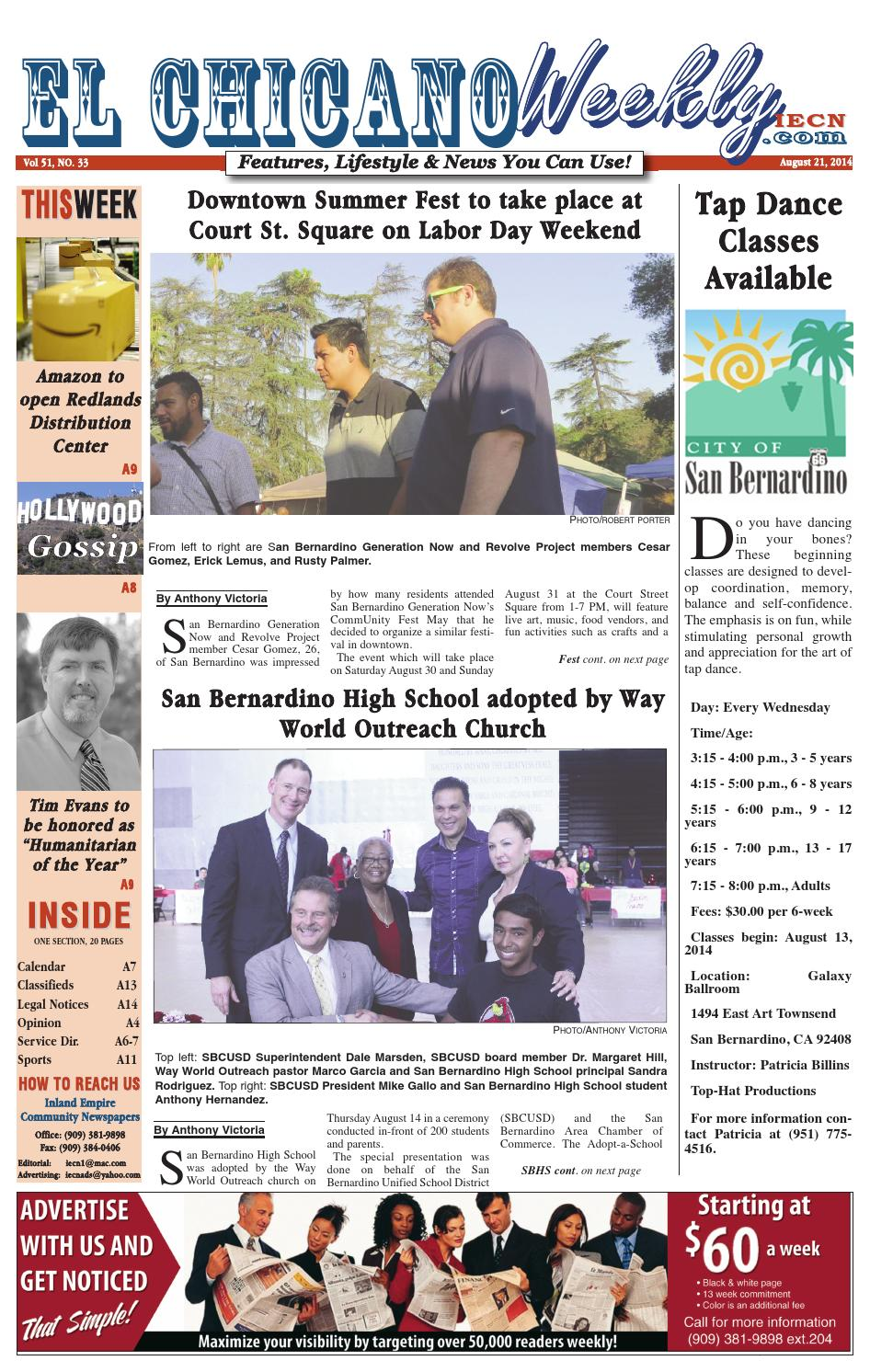 El Chicano August 21 2014 by Inland Empire Community Newspapers - issuu