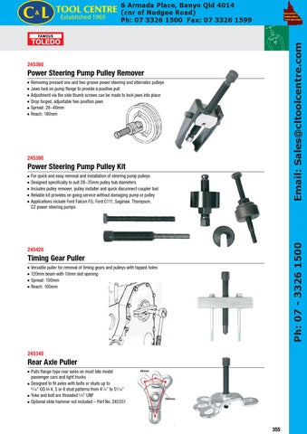 TOLEDO Power Steering Pump Pulley Remover 245360